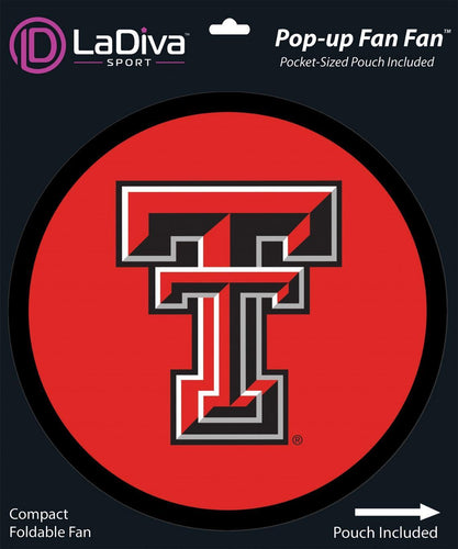Texas Tech University -TTU Red Raiders~Pop-Up Fan Fan with Pouch