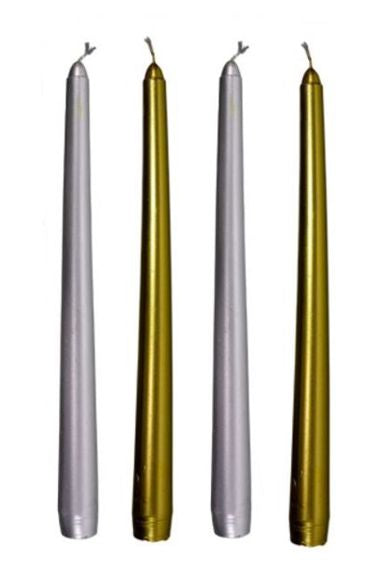Gold & Silver Taper Candles