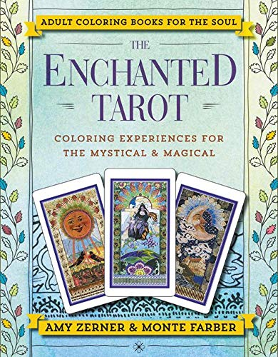 Enchanted Tarot Adult Coloring Book by Monte Farber