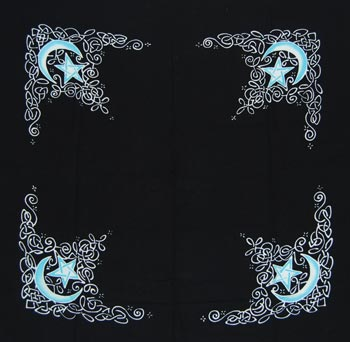 "Celtic Moon Altar Cloth or Scarf (36"" x 36"")"