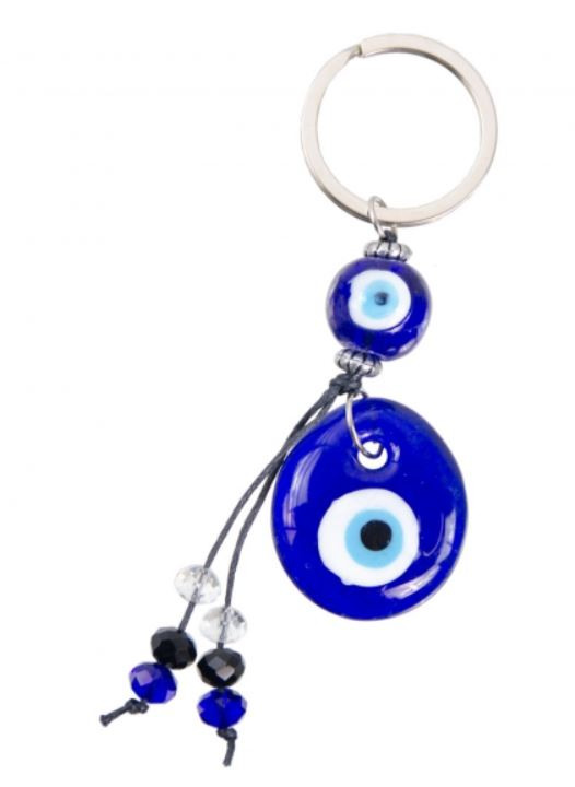 Evil Eye Key Ring Glass Evil Eye