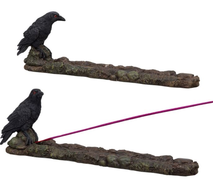 Incense Holder with Raven