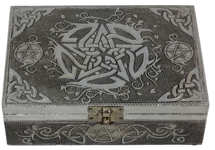 White Metal Lined Box - Pentacle