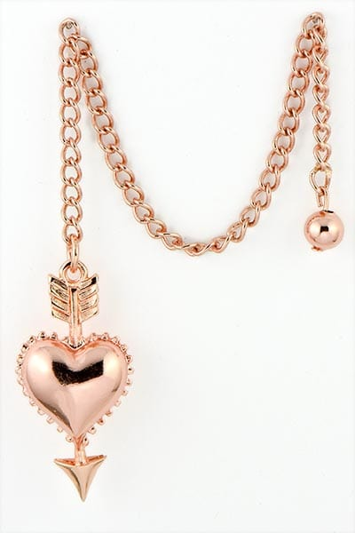 Heart Pendulum Rose Gold