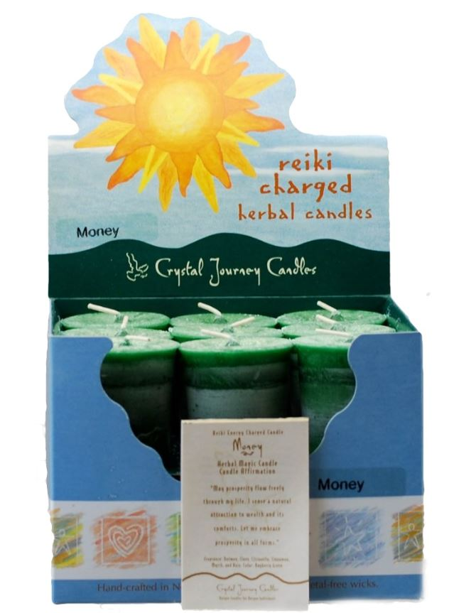 Money Herbal Votive Candle