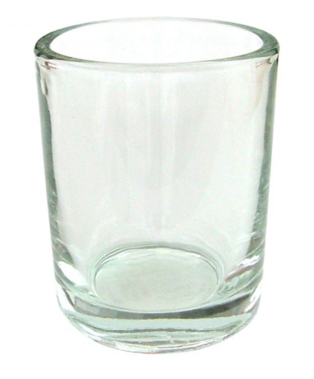 Candle Holder Votive Clear Glass