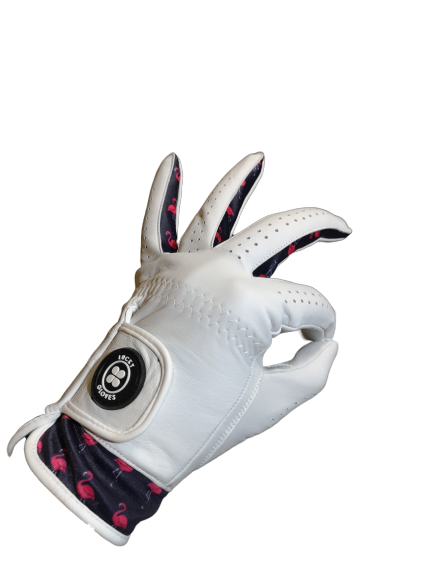 lucky flamingo golf glove aaa grade cabretta leather, best golf gloves south africa