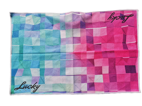 Lucky Abstract Golf Towel