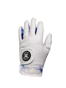 Lucky Blues Leather Golf Glove