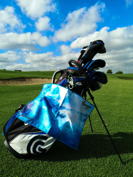 Lucky Blues Golf Towel