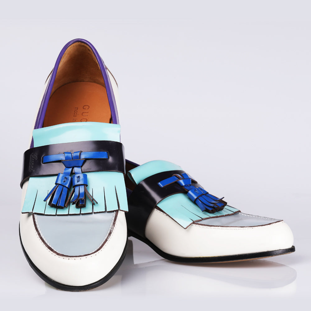 Gucci Leather Kiltie Loafer Shoes