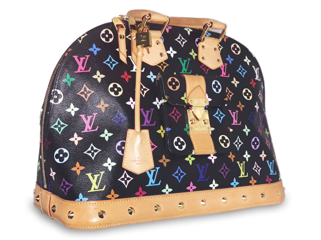 Louis Vuitton Multicolor Alma GM Black 85305