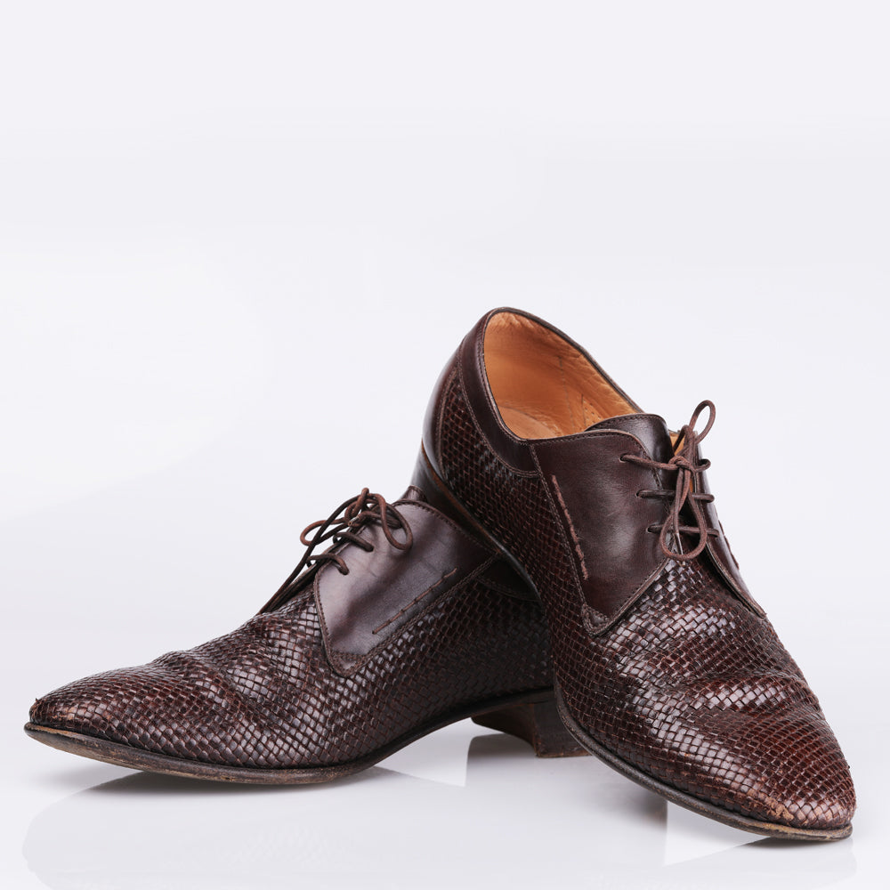 Gravati Brown Leather Lace Up Shoes