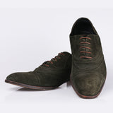 YSL Green Derby Shoes