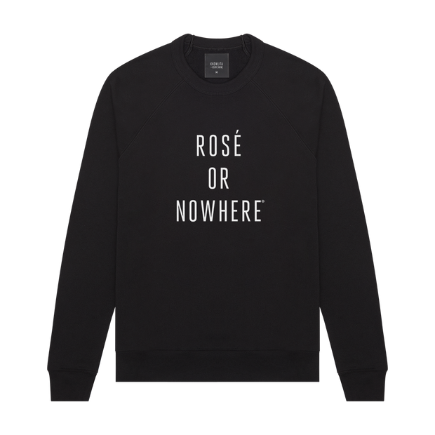 Knowlita x Verve Wine Rose Sweatshirt — Black-Apparel-Verve Wine