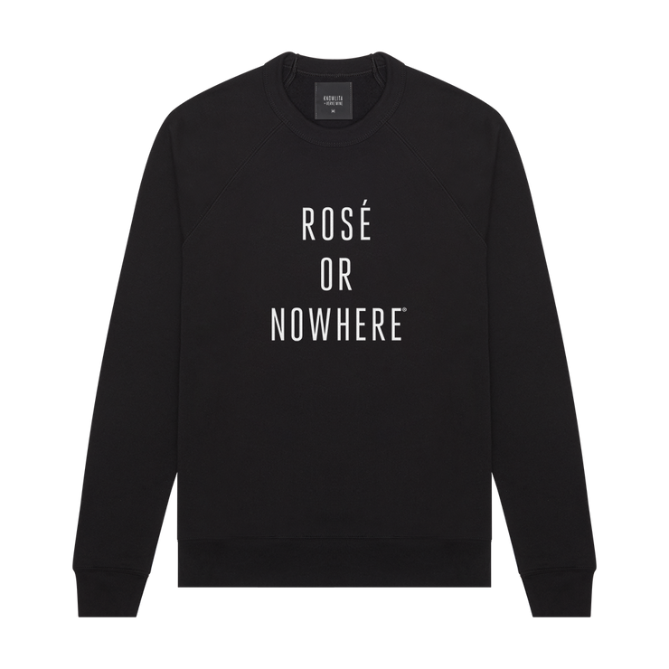 Knowlita x Verve Wine Rose Sweatshirt — Black