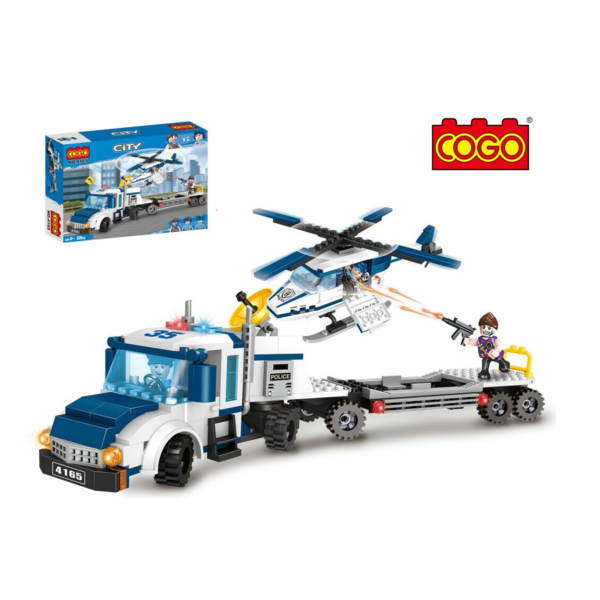 CITY POLICE HELICOPTER CHASE 329 PCS BUILDING BRICKS