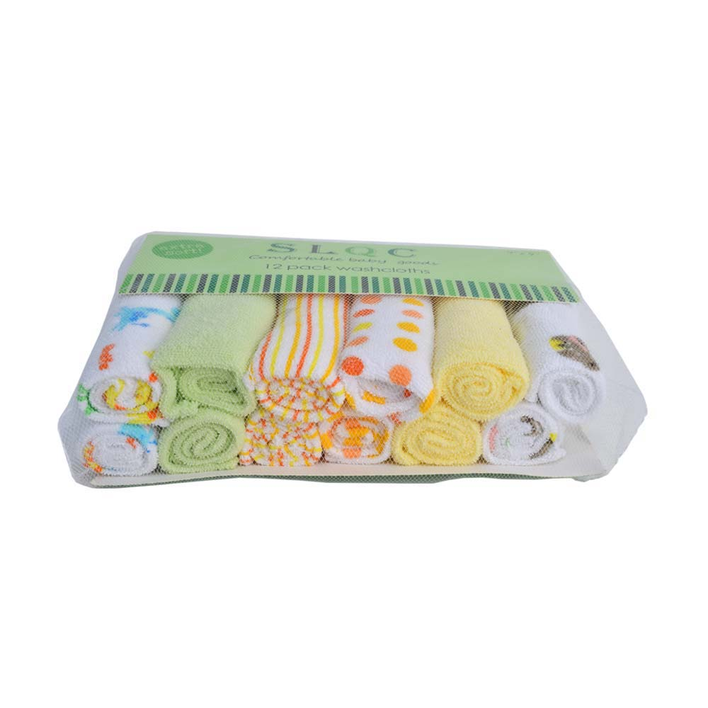 CARTERS 12 PACK BABY WASHCLOTHS (4186334822509)