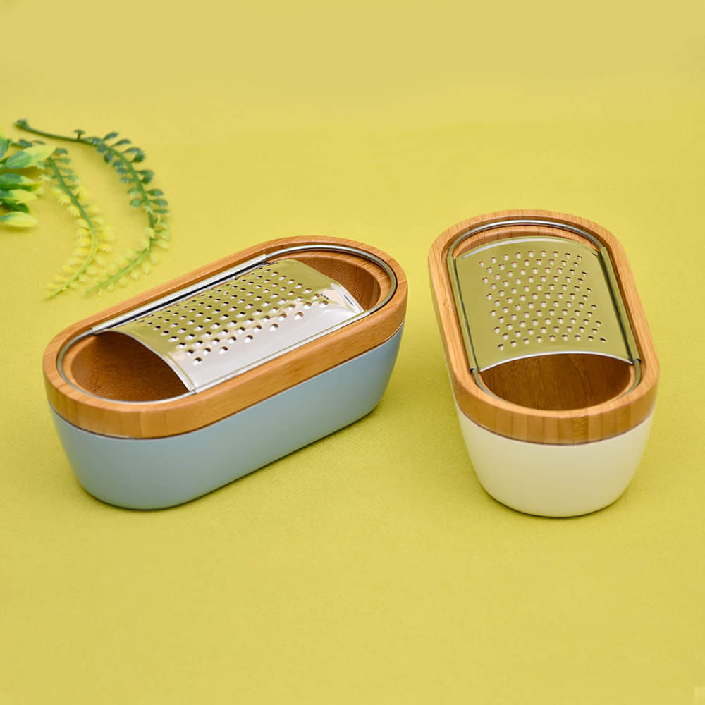 Bamboo Wood Grater & Collector
