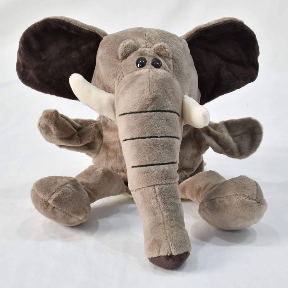 Elephant Hand Puppet with Movable Mouth (4410351714413)