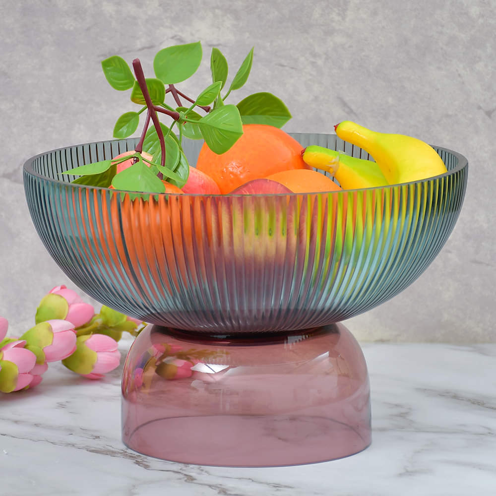 Grandeur Glass Multi Shades Round Serving Bowl