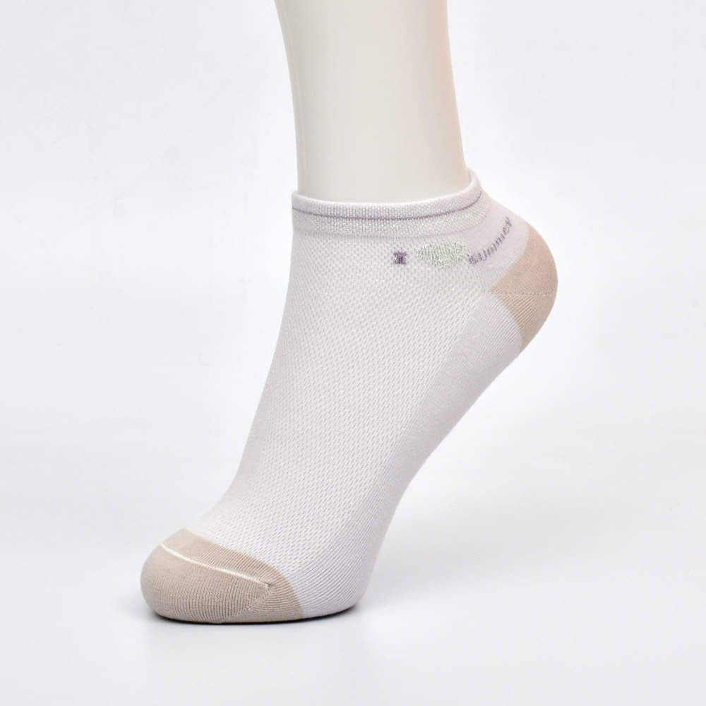 Summer Title Premium Cotton No Show Ankle Socks (Pack of 5)
