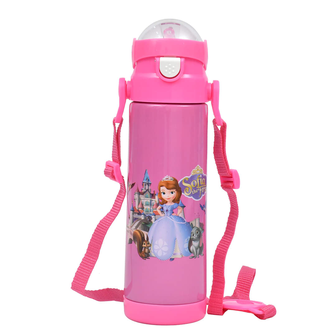 Cartoon Character Stainless Steel Water Bottle-Pink