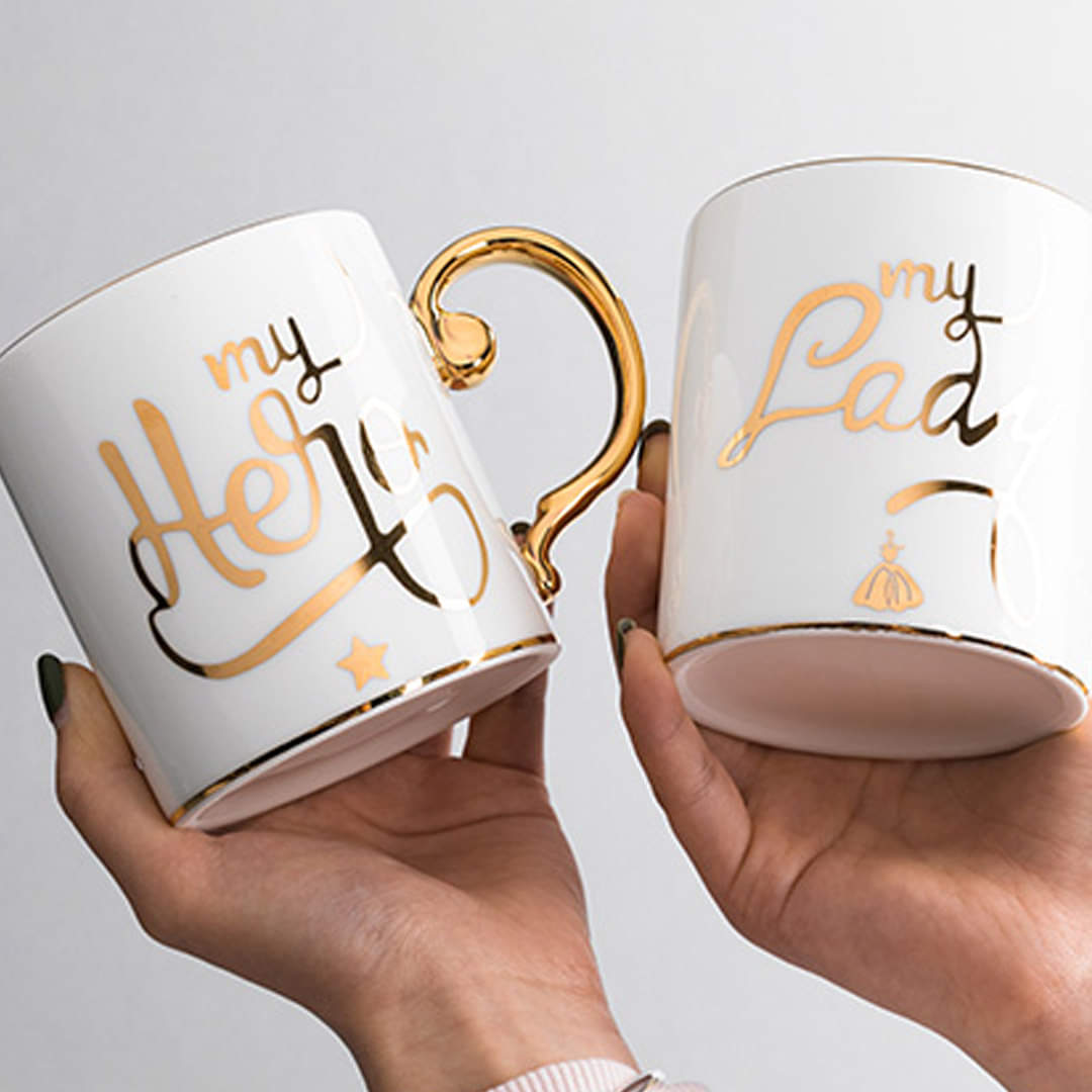Pair of My Hero & My Lady Title Mug