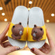 Brown Bear Design Kids Slippers (4538725466221)