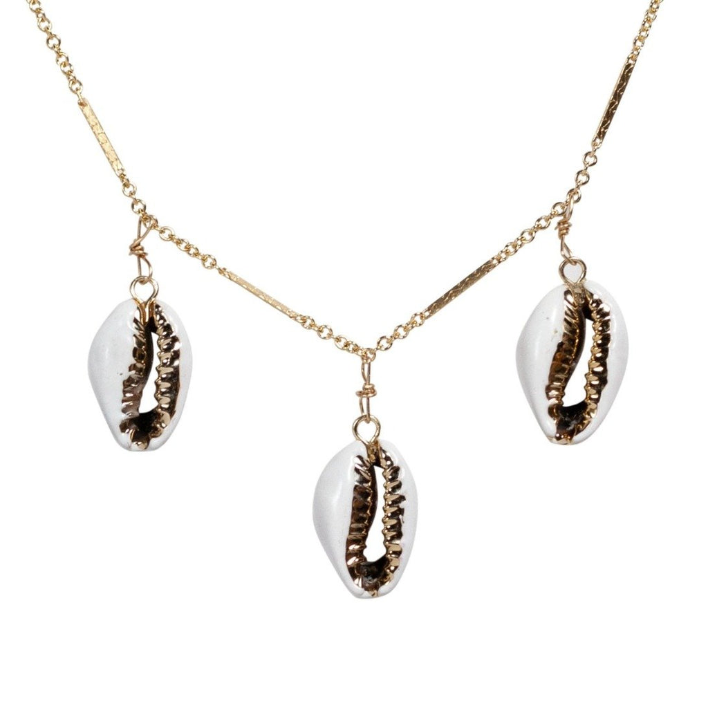 Shell Trio Choker - Waffles & Honey Jewelry