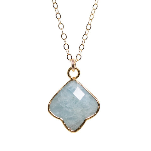 Clover Necklace in Amazonite