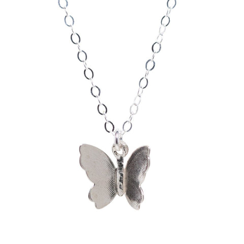 Flutter Necklace in Silver