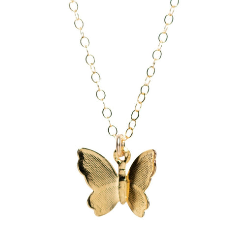 Flutter Necklace in Gold