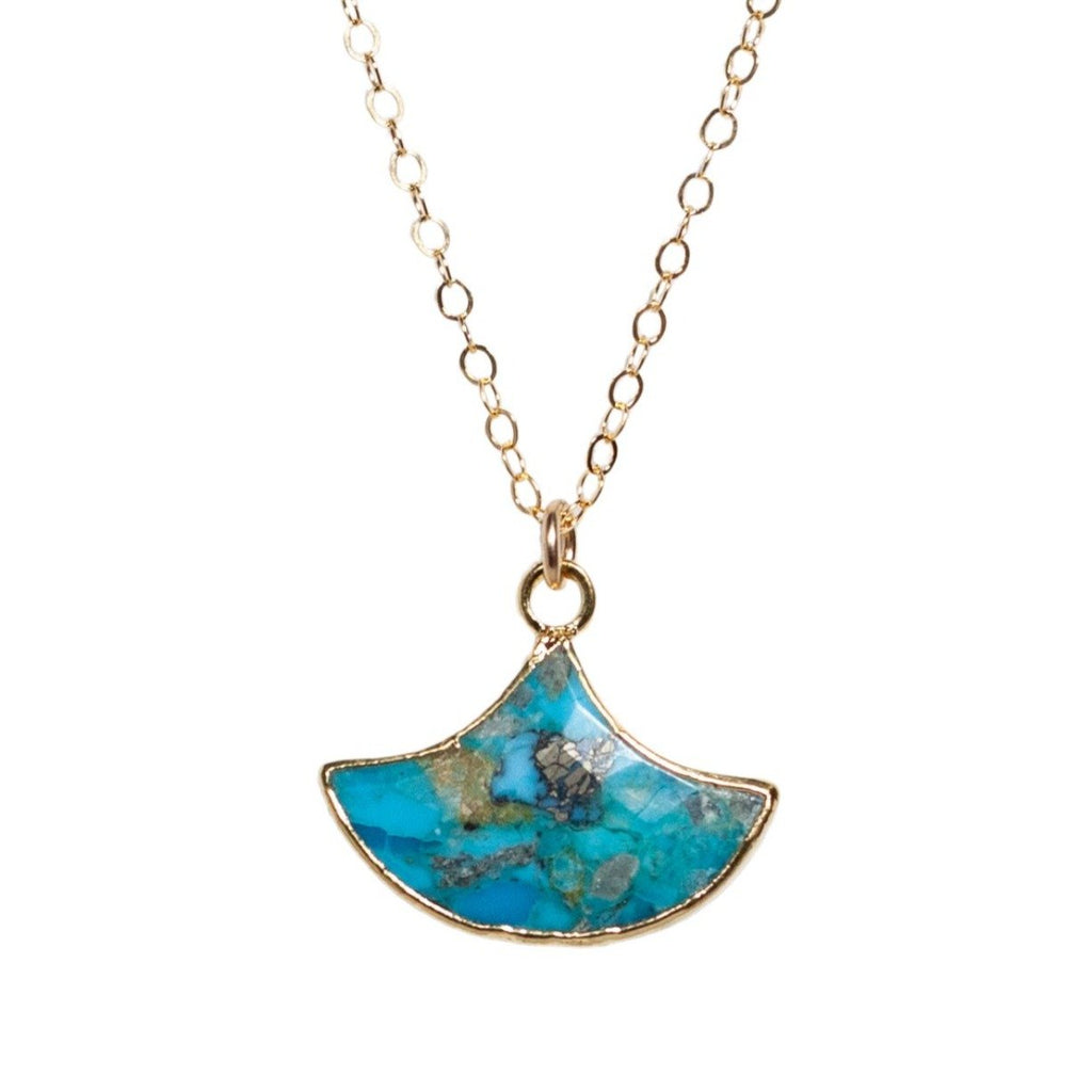 Carmen necklace in Turquoise - Waffles & Honey Jewelry