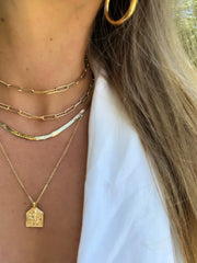Rectangle Link Layering Chain - Waffles & Honey Jewelry