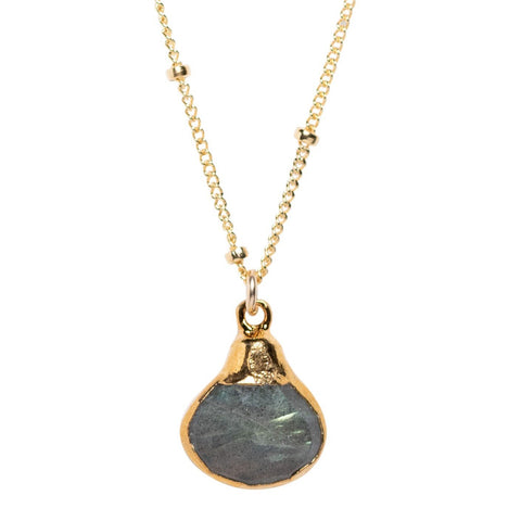 LUX Labradorite Teardrop Necklace
