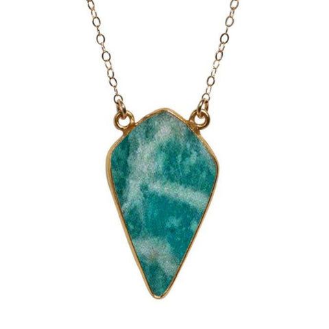 Large Diamond Necklace in Amazonite