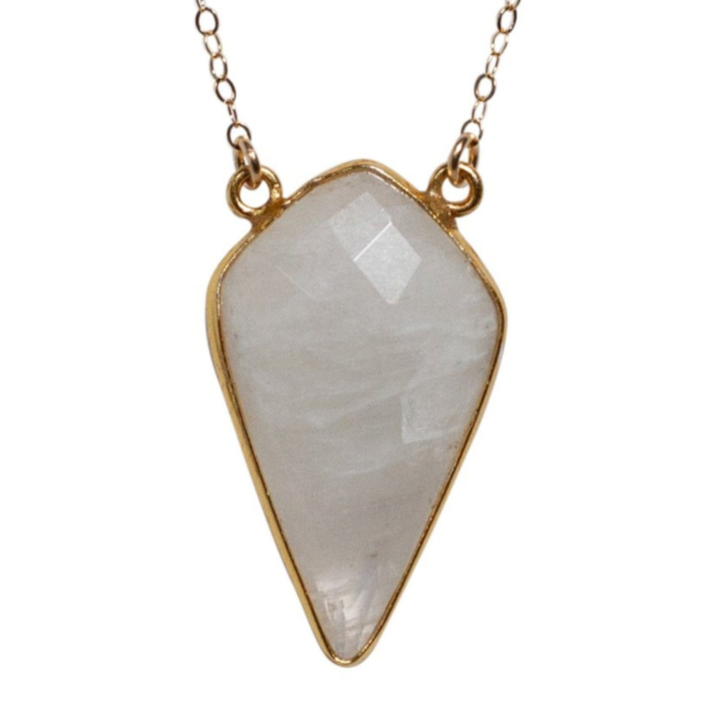 Large Diamond Necklace in Moonstone