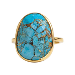 Luna Ring in Copper Infused Turquoise