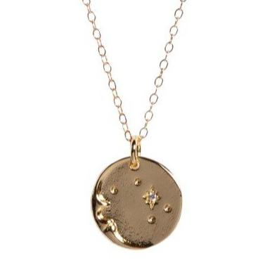 Man in the Moon Necklace - Waffles & Honey Jewelry