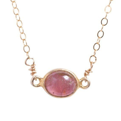 Margaret Necklace in Pink Tourmaline