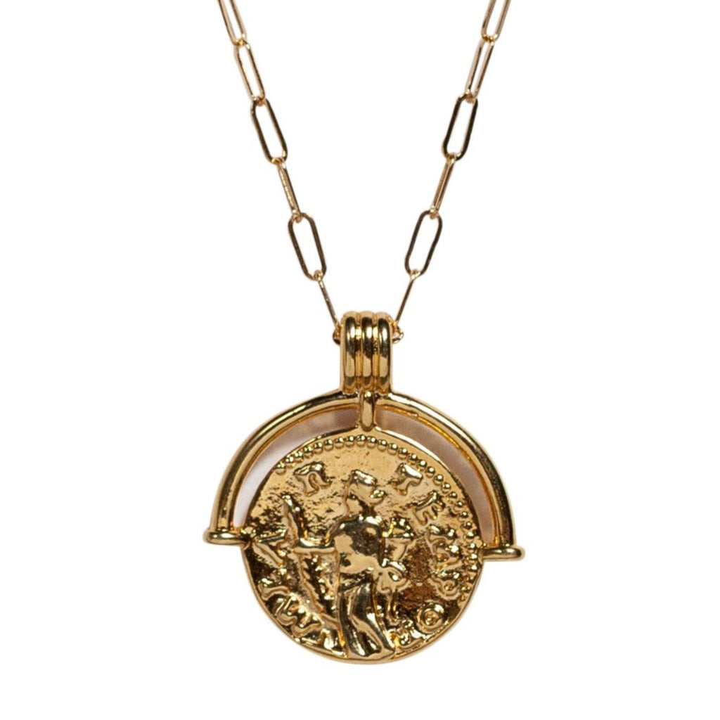 Talisman Coin Necklace in Gold