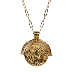 Talisman Coin Necklace in Gold - Waffles & Honey Jewelry