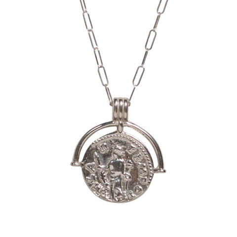 Talisman Coin Necklace in Silver