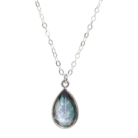Mystic Rainbow Topaz Necklace in Silver