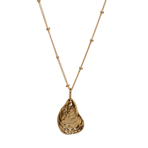 Oyster Shell Necklace in Gold