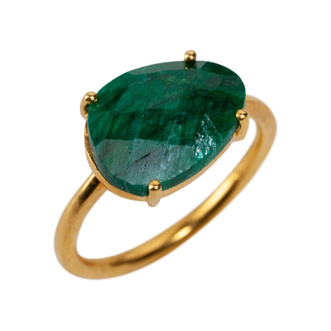 Gaia Ring in Emerald