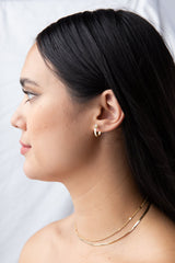 Samantha Hoops in Gold - Waffles & Honey Jewelry