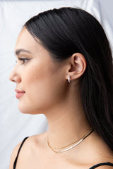 Samantha Hoops in Silver - Waffles & Honey Jewelry