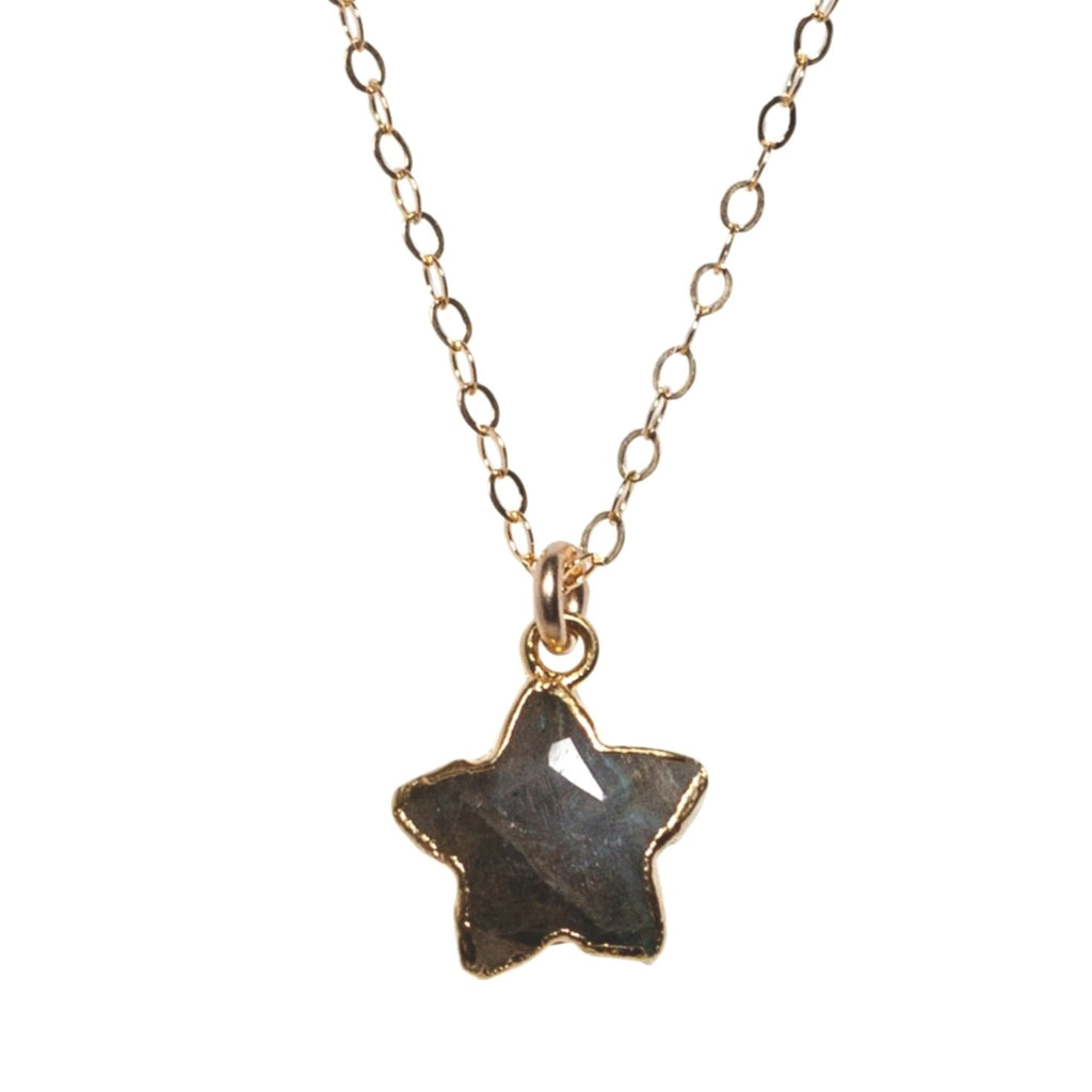 Star Necklace in Labradorite - Waffles & Honey Jewelry
